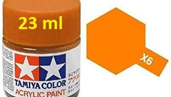 X-6 Orange Acrylic Paint 23ml X6 - Tamiya