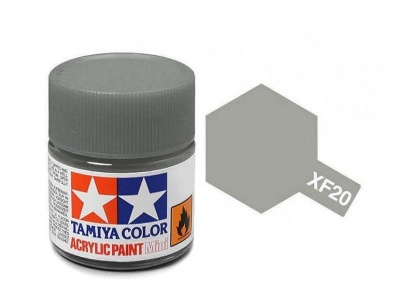 XF-20  Medium Grey Acrylic Paint Mini XF20 - Tamiya