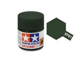 XF-81  Dark Green 2 Acrylic Paint Mini XF81 - Tamiya