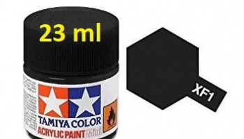 XF-1 Flat Black Acrylic Paint 23ml XF1 - Tamiya