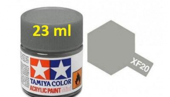 XF-20 Medium Grey Acrylic Paint 23ml XF20 - Tamiya