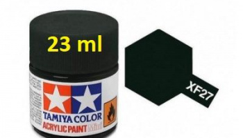 XF-27 Black Green Acrylic Paint 23ml XF27 - Tamiya
