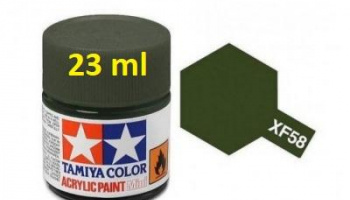 XF-58 Olive Green Acrylic Paint 23ml XF58 - Tamiya