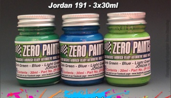 Jordan 191 Formula 1 Paint Set- 3x30ml - Zero Paints