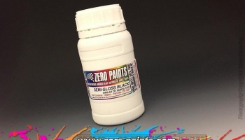 Semi-Gloss Black Paint - Similar to TS29 (250ml) - Zero Paints