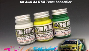 Audi A4 DTM Team Schaeffler Paint Set - 3x30ml - Zero Paints