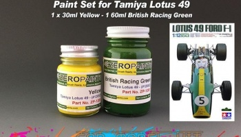 Lotus 49 Paint Set - 60ml Green & 30ml Yellow (Tamiya) - Zero Paints