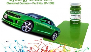 Chevrolet Camaro Synergy Green Paint 60ml - Zero Paints