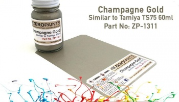 Champagne Gold Paint - Similar to TS75 60ml - Zero Paints