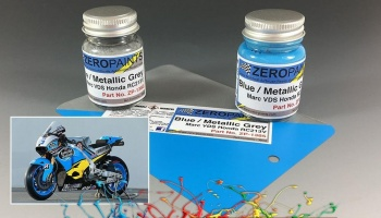 Marc VDS Honda RC213V - Blue/Metallic Grey Paint Set 2x30ml - Zero Paints