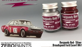 Broadspeed Ford Escort Mk1 Paint Set 2x30ml - Zero Paints