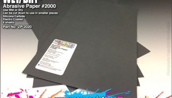 Wet and Dry Abrasive Paper #2000 - 4 off - Zero Paints