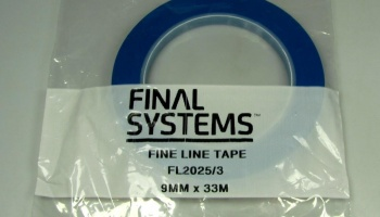 Fine Line Masking Tape - 9mm x 33m - Zero Paints