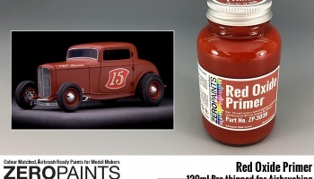 Red Oxide Primer 120ml for Airbrushing - Zero paints