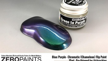 Green/Purple - Chromatic (Chameleon) Flip Paint 15ml - Zero Paints