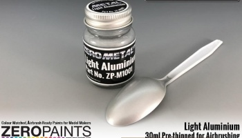 Light Aluminium Paint - 30ml - Zero Metal Finishes - Zero Paints