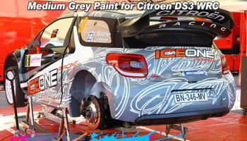 Medium Grey Paint for Citroen DS3 WRC (Pitwall Decals 24D-005) 60ml - Zero Paints