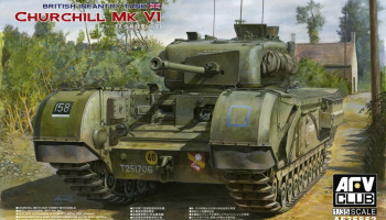 Churchill Mk.VI with Ordnance QF 75mm Mk.V gun (1:35) - AFV Club