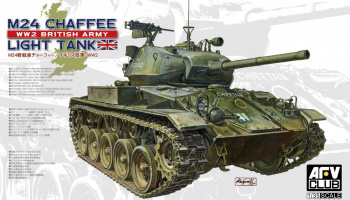 M24 Chaffee tank WW 2 British Army version (1:35) - AFV Club