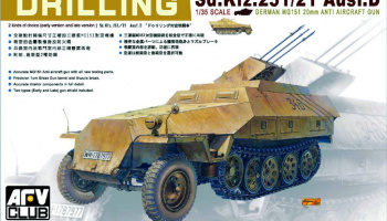 Sd.Kfz. 251/21 ausf.D Drilling (1:35) - AFV Club