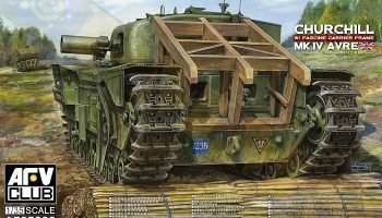 CHURCHILL MK IV AVRE W FASCINE CARRIER FRAME (1:35) - AFV Club