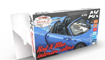 RED & BLUE INTERIOR COLORS - AK-Interactive
