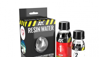 RESIN WATER 2 COMPONENTS EPOXY RESIN 180ML - AK-Interactive