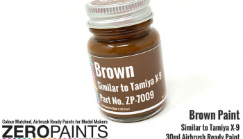 Brown Paint 30ml - Similar to Tamiya X-9 - Zero Paints