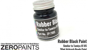 Rubber Black Paint 30ml - Similar to Tamiya XF-85 - Zero Paints