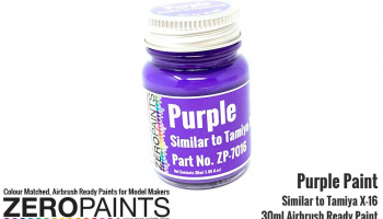 Purple Paint 30ml - Similar to Tamiya X-16 - Zero Paints