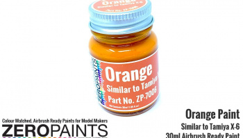 Orange Paint 30ml - Similar to Tamiya X-6 - Zero Paints