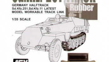 German Halftrack Sd.Kfz. 251, Sd.Kfz. 11 Workable Track Link 1/35 - AFV Club