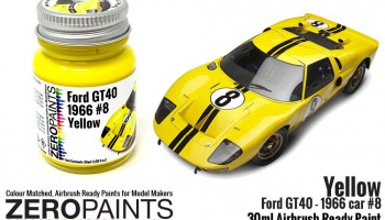 Ford GT40 - 1966 Car #8 Yellow Paint 30ml - Zero Paints