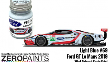 #69 Ford GT Le Mans Light Blue Paint 30ml - Zero Paints