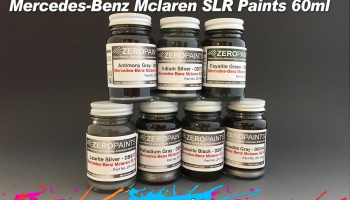 Mercedes,  McLaren SLR Galaxite Black Metallic - Zero Paints