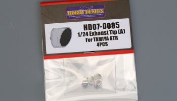 Exhaust Tip (A) For Tamiya GTR R35 - Hobby Design