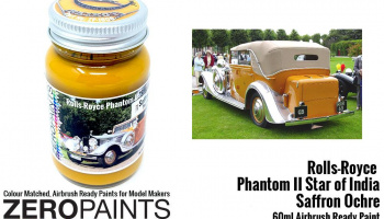 "Rolls Royce Phantom II ""Star of India"" Saffron Ochre Paint 60ml - Zero Paints"