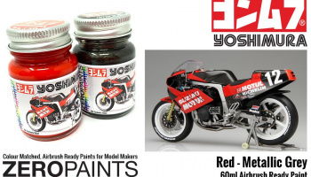 Yoshimura (Suzuki GSX-R750) Red and Metallic Grey Paint Set 2x30ml - Zero Paints