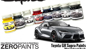 Toyota GR Supra Matt Storm Grey Paint 30ml - Zero Paints