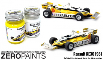 Renault RE30 1981 Yellow and White Paint Set 2x30ml - Zero Paints