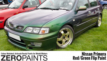 Nissan Primera Mystic Green (Red/Green) Flip Paint 2x30ml - Zero Paints