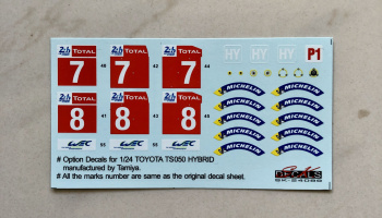 Toyota TS050 Le Mans Option Decal - SKDecals