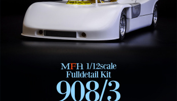 Porsche 908/3 Fulldetail Kit 1:12 - Model Factory Hiro