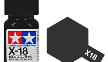 X-18 Semi Gloss Black Enamel Paint X18 - Tamiya