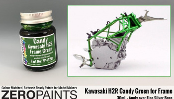 Kawasaki H2R Frame Candy Green Paint 30ml - Zero Paints