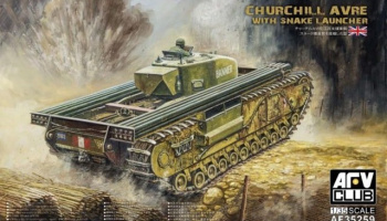 Churchill AVRE with Snake Launcher (1:35) - AFV Club