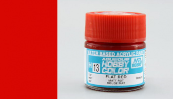 Hobby Color H 013 - Flat Red - Gunze