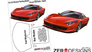 Ferrari 458 Italia Pre Cut Window Painting Masks (Fujimi) - Zero Paints