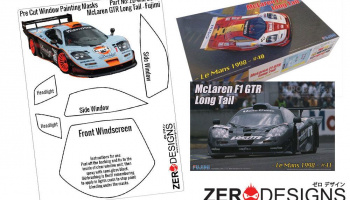 Mclaren F1 GTR Long Tail Pre Cut Window Painting Masks (Fujimi) - Zero Paints