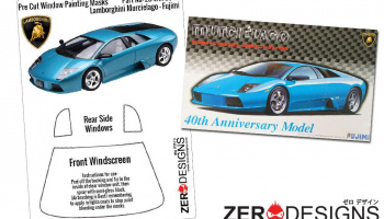 Lamborghini Murcielago Pre Cut Window Painting Masks (Fujimi) - Zero Paints